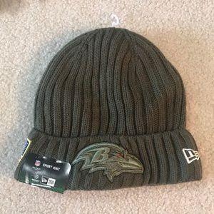 Never Worn Official NFL Ravens Beanie